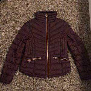 Coat; Burgundy